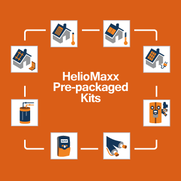 HelioMaxx Pre-Packaged Solar Hot Water Kits