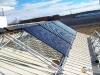 Tilt Mounted SunMaxx Evacuated Tube Solar Collectors Installation Underway