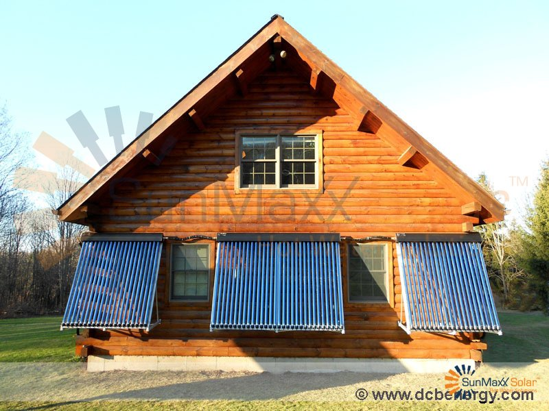Sunmaxx Solar Installation At Kuhns Bros Log Homes Inc
