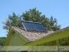 SunMaxx Evacuated Tube Solar Collector Tilt Mounted On Residential Roof