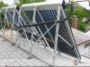 Tilt Mounted SunMaxx Evacuated Tube Solar Collectors In Residential Solar Domestic Hot Water System