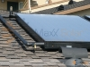 Residential Flat Plate Solar Collectors Closeup