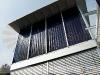 Vertical Flat Plate Solar Collector Installation