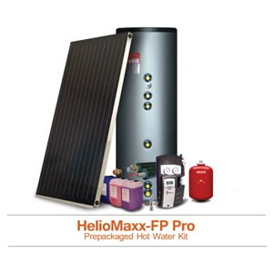 Pre Packaged Solar Hot Water Kits With Flat Plate Solar Collectors