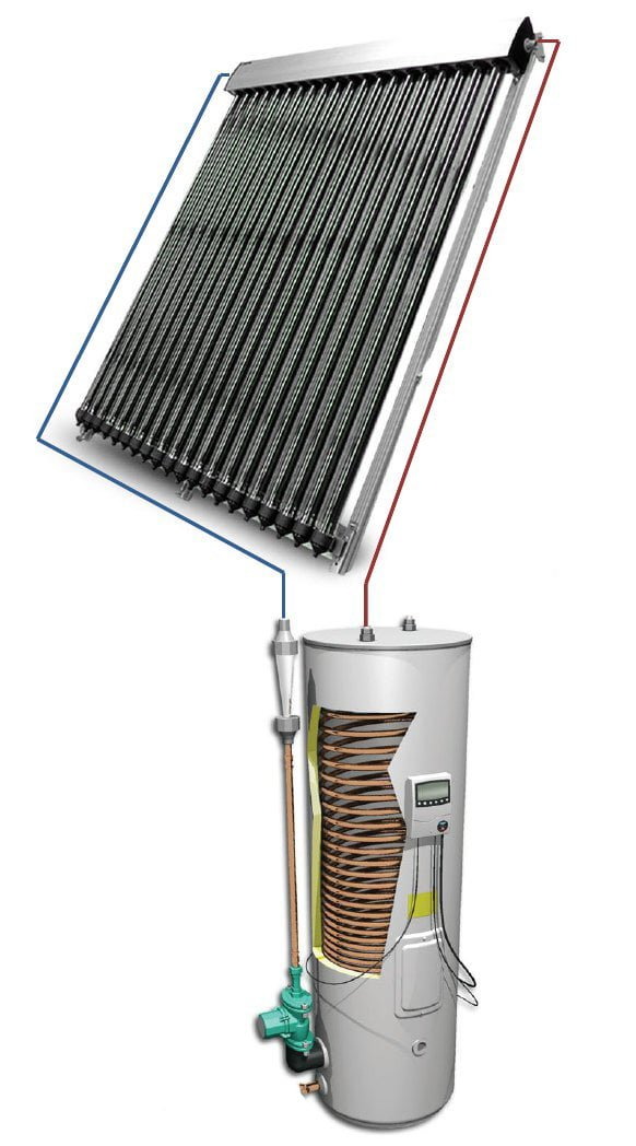 HelioMaxx Pre Packaged Solar Hot Water Kits With Evacuated Tubes