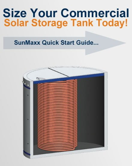 Commercial Solar Hot Water Storage Tanks