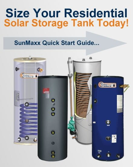 Residential Solar Hot Water Storage Tanks