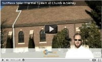 Solar Thermal Installation On A Church, Sidney NY