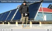 SunMaxx Warehouse Solar Thermal Installation