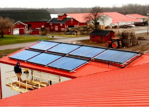 SunMaxx Solar Installs Solar Thermal System At Brightly Farms in Hamlin, NY Main Image