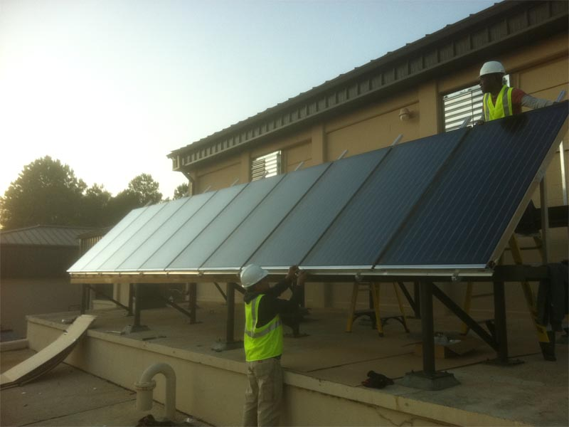 SunMaxx Solar and Intelligent Green Solutions Install Solar Thermal System at Moody Air Force Base