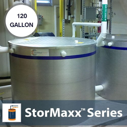 120 Gallon Non-pressurized Buffer Tank With 1 Heat Exchanger
