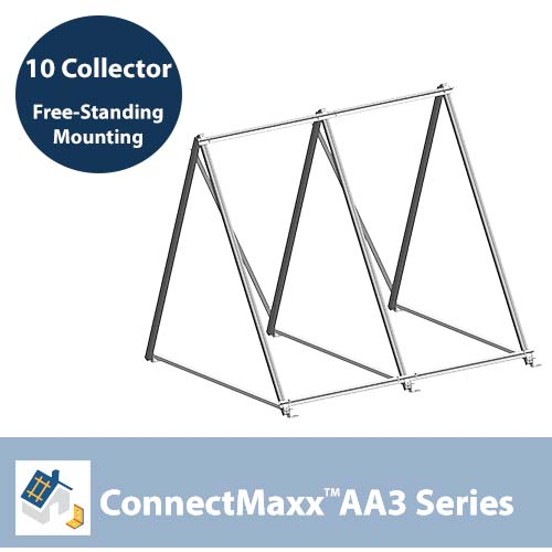 ConnectMaxx AA3 Free-Standing Mounting Kit – 10 Collectors
