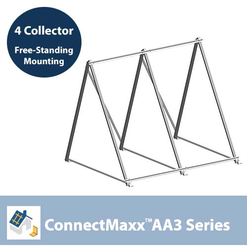 ConnectMaxx AA3 Free-Standing Mounting Kit – 4 Collectors