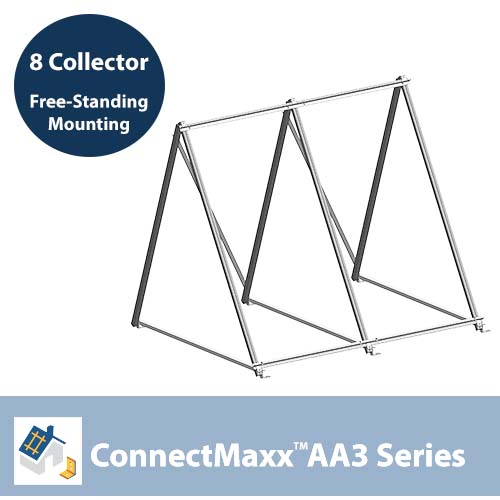 ConnectMaxx AA3 Free-Standing Mounting Kit – 8 Collectors