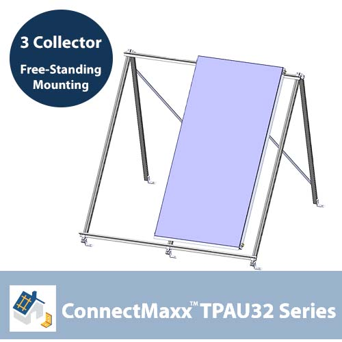 ConnectMaxx TPAU32 Free-Standing Mounting Kit – 3 Collectors