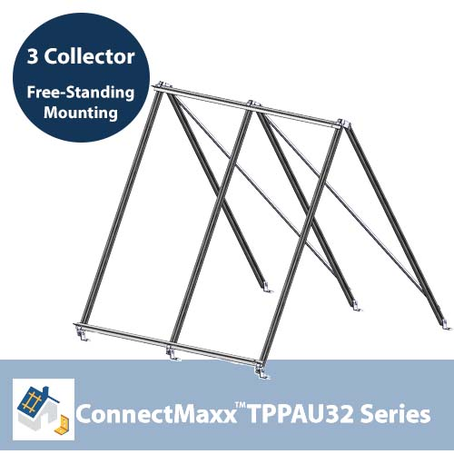 ConnectMaxx TPPAU32 Free-Standing Mounting Kit – 3 Collector