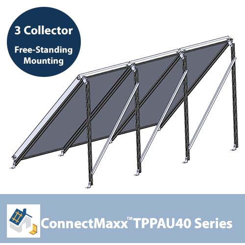 ConnectMaxx TPPAU40 Free-Standing Mounting Kit – 3 Collector
