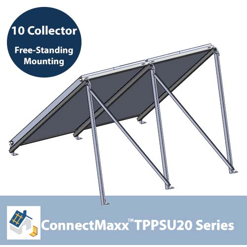 ConnectMaxx TPPSU20 Free-Standing Mounting Kit – 10 Collectors
