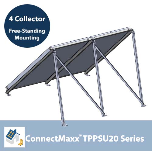 ConnectMaxx TPPSU20 Free-Standing Mounting Kit – 4 Collectors