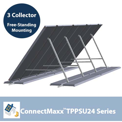 ConnectMaxx TPPSU24 Free-Standing Mounting Kit – 3 Collectors