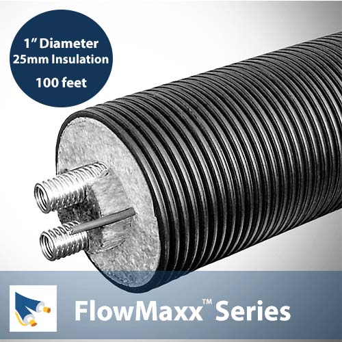 FlowMaxx-USA-1-in dia x 100ft L Pre-insulated Single Lineset