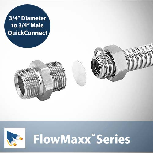 FlowMaxx Pre Insulated Line Set 3/4in pipe Quickconnect to 3/4 in Male