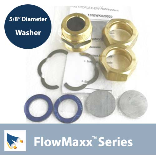 Washer flat sealing for 5/8 FlowMaxx
