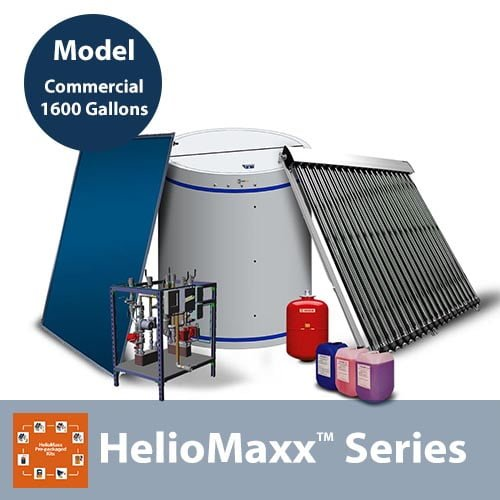 1600 Gallon Commercial Solar Hot Water System