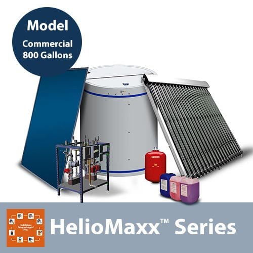 800 Gallon Commercial Solar Hot Water System