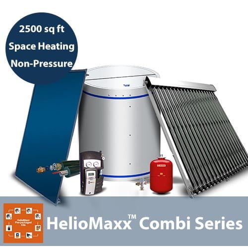 80 Gallon and 2500 Square Feet Space Heating 1-4 People No Backup NP Solar Hot Water Kit