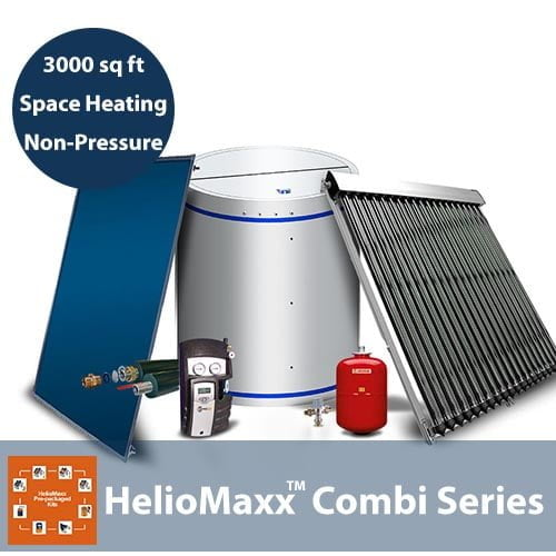 80 Gallon and 3000 Square Feet Space Heating 1-4 People No Backup NP Solar Hot Water Kit