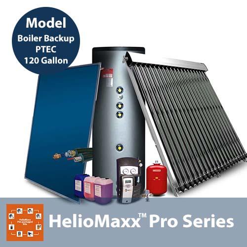 120 Gallon 3-6 People Boiler Backup Ptec Solar Hot Water Kit