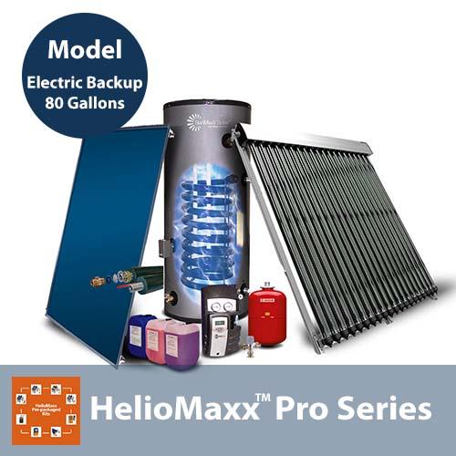 80 Gallon 1-4 People Electric Backup SE Solar Hot Water Kit