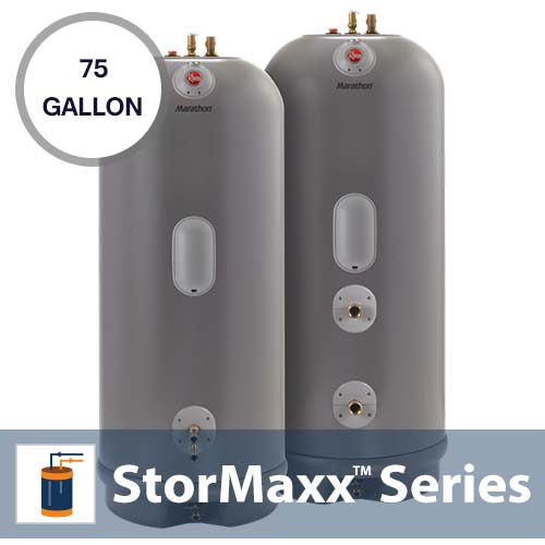 75 Gallon Marathon Electric Water Heater  sc 1 st  SunMaxx Solar & 75 Gallon Marathon Electric Water Heater - Solar Hot Water u0026 Heating ...