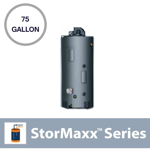 75 Gallon Pressurized Natural Gas Backup Tank With 1 Heat Exchanger