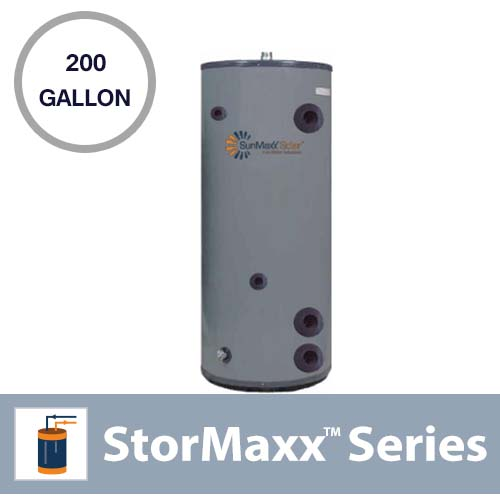 200 Gallon Commercial ASME Pressurized, Vertical and Insulated Buffer Tank