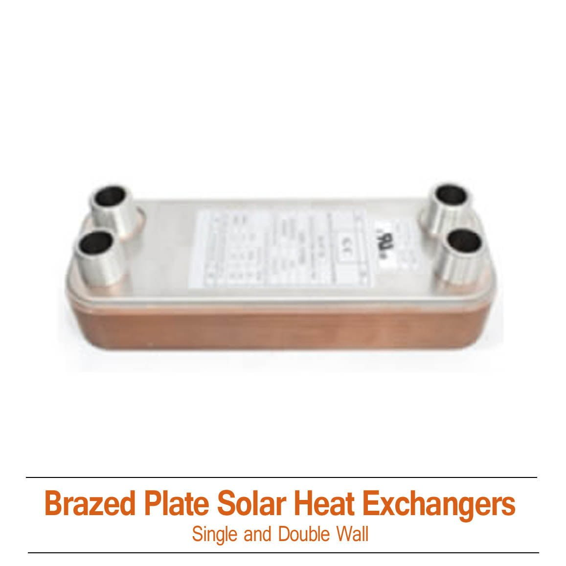 Brazed Plate Double Wall Heat Exchanger 300K