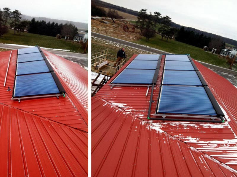 SunMaxx Installs Solar Thermal System At Brightly Farms in Hamlin, NY