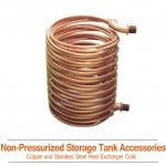 90/90Ft Stacked Copper Coil Heat Exchanger