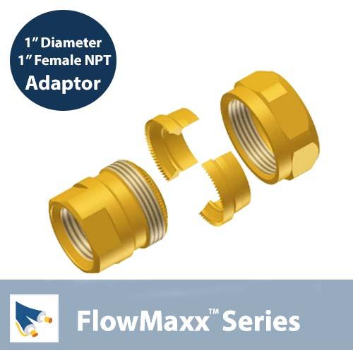 FlowMaxx-Adaptor-1″ lineset to 1″ Female NPT