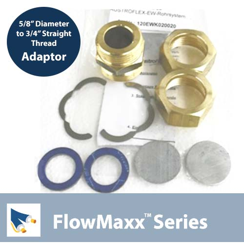 Flowmaxx Lineset Adaptor – 5/8″ lineset to 3/4″ Straight Thread