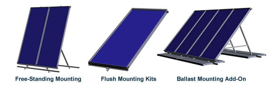 Flat Plate Solar Collector Mounting Options