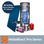 HelioMaxx Pro 80G DIY Solar Hot Water Kit With Electric Backup & Flat Plate