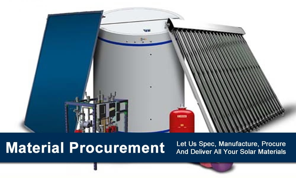Commercial Solar Hot Water Material Procurement