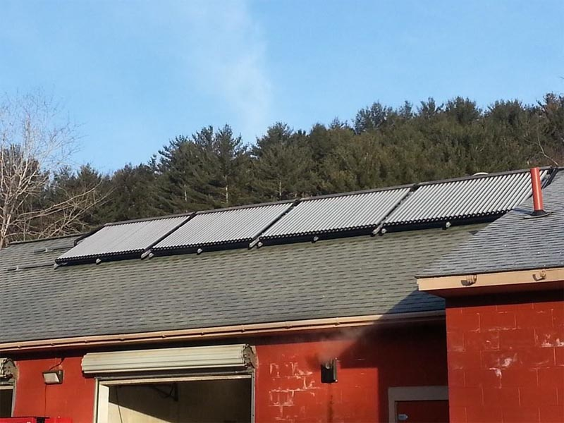 Suds & Shine Car Wash Solar Hot Water System In Oneonta NY