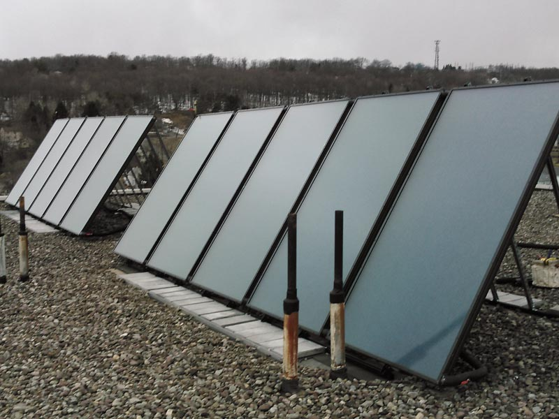 Huron Campus Solar Hot Water System Installation In Endicott NY