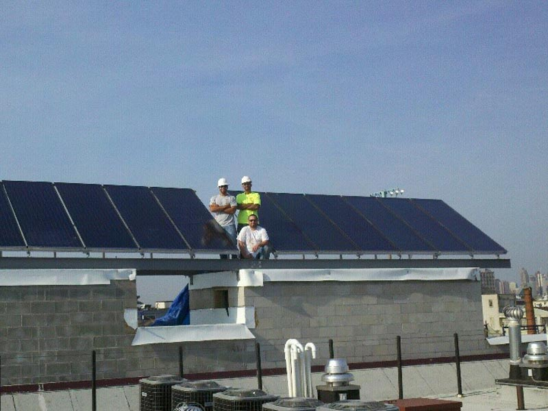 Tribeca West Condo Solar Hot Water System In Hoboken NJ
