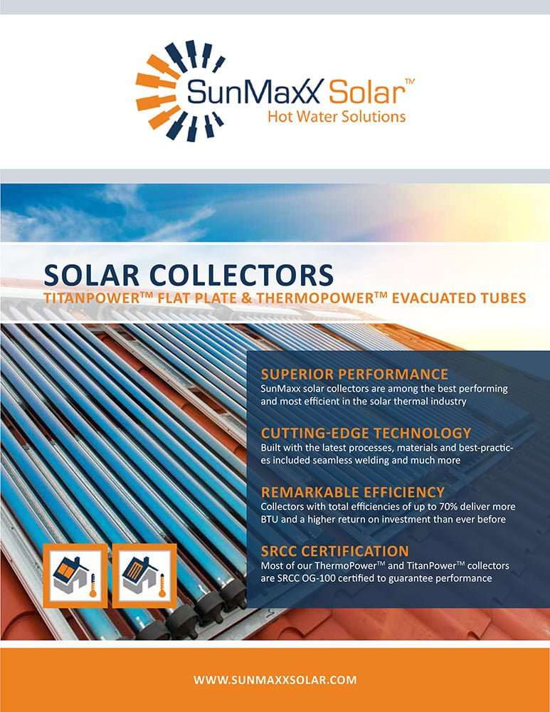 Brochure – SunMaxx Solar Collectors