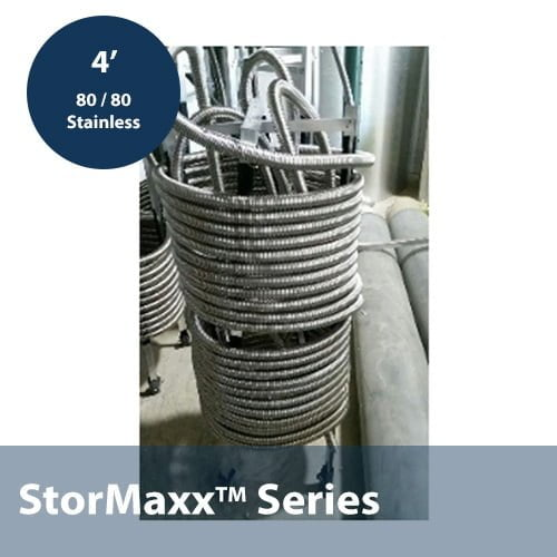 80 / 80 Stacked 3/4″ Corrugated Stainless Steel Heat Exchanger In 4ft Height Configuration